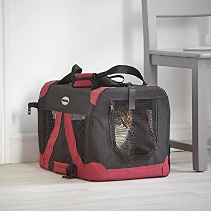 MILO & MISTY Fabric Pet Carrier - Lightweight Folding Travel Seat for Dogs, Cats, Puppies - Made of Waterproof Nylon and… 2