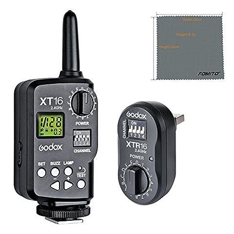 fomito Godox xt-16xt16Déclencheur radio Flash sans fil émetteur et récepteur pour Godox AD360AD180, de, DP, QT, QS, Gemini GS, GT, plus rapide, plus rapide d Series Studio Flash