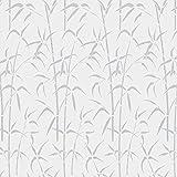 d-c-fix, Fensterfolie, Design Bamboo weiß, transparent, selbstklebend, 45 x 200 cm