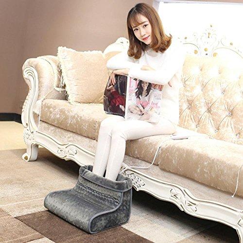 Aozzy Fußwärmer mit 4 Temperaturstufen, Abschaltautomatik, waschbarer Fußsack . Füße aufwärmen mit dem Wärmeschuh (grau)