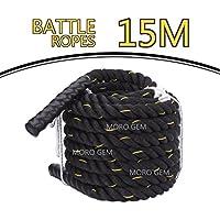 Moro Battle Rope - Fune da allenamento, per fitness ed esercizi sportivi, 15 m x 38 mm