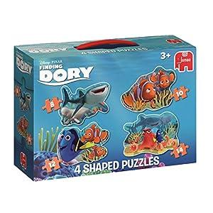 Jumbo Disney 4in1 Shaped Puzzle - Rompecabezas (Rompecabezas de Figuras, Dibujos, Niños, Disney Pixar Finding Dori, Pescados, Niño/niña)