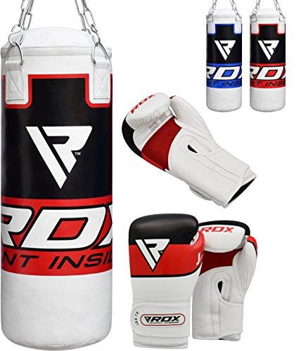 RDX kinder Boxsack Set Gefüllt Kickboxen MMA Kampfsport Muay Thai Boxen mit kette Training Handschuhe