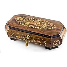 fabriqué à la main 18Note Wood Tone Grand double niveau Thème musical Boîte à bijoux musicale, 335. Send in the Clowns