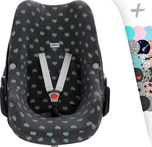 Preisvergleich Produktbild Janabebe® - Baumwollbezug Pebble Maxi -Cosi y Bébé confort,  Abdeckung Stubenwagen,  Autositz (Blue Heart)