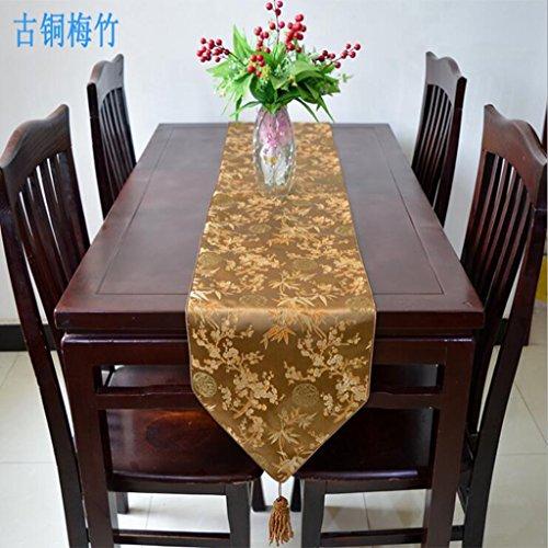 Miaoge Brocade table bandiera società seta festa panno tradizionale cinese flag tabella 33*180cm