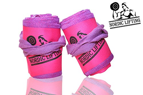 Crossfit-Wrist-Wraps-1-Pair-32-Support-For-WeightliftingGym-Pink-Purple