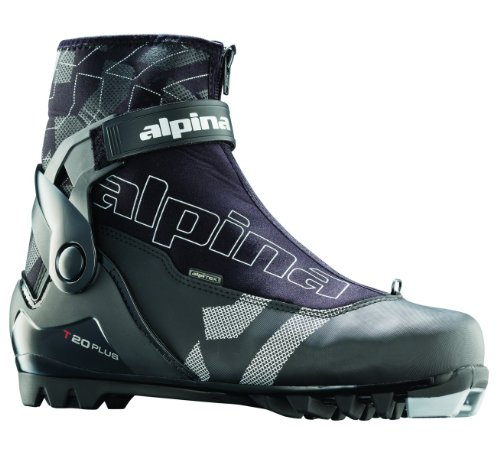 alpina T20 Plus Langlauf Nordic Touring Ski Stiefel mit Knöchelbandage, schwarz (Sport Cross Country Boot Alpina)