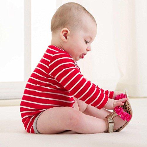 Baby Blumen Sandalen Babyschuhe 0-12 Monat kingko Heißes Rosa