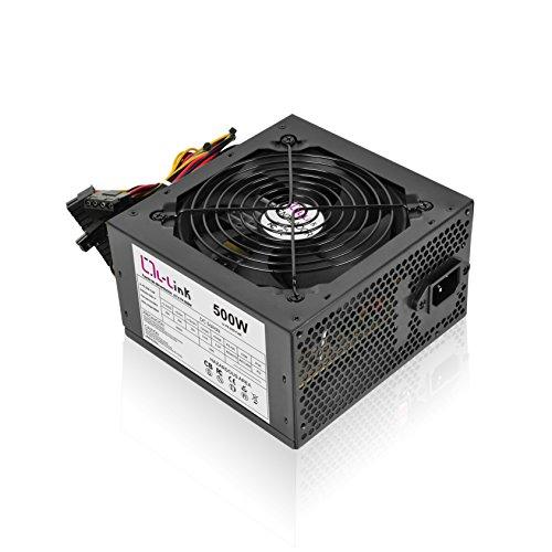 L-Link LL-PS-500 - Fuente de alimentación (500 W) color negro