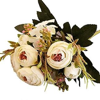 Luzoeo Flores Artificiales Decoracion Exterior Tiene un Toque Real Decorativas para Ramos de Boda hogar Hotel jardín Evento navideño 1pcs