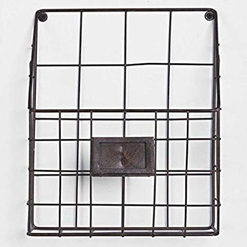 Iron Newspaper Rack Wall Bookstand Magazine Étagères Simple Parlor Creative Wall Hanging Newspaper Basket Journaux A+ ( Couleur : Noir )