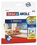 tesa 05390-101-00 tesa Moll Hohlprofil-Dichtung 6 m, 5 mm, 9 mm (2x 6mx9mmx5,5mm, weiß)
