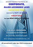 Corporate, Allied and economic Laws for CA final May2018 Exam (Old and new syllabus)