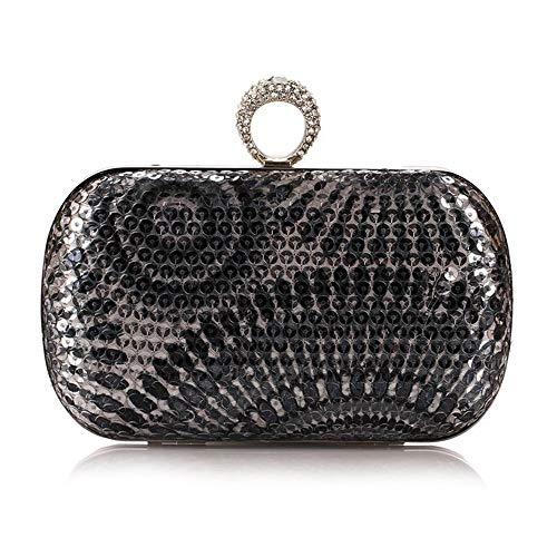 Yhjklm Clutch Abendtasche Damen Vintage Pailletten Druck Geometrische Muster Business Clutch...