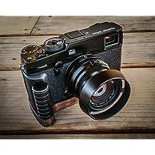 Handgefertigter Kameragriff für Fuji Fujifilm X-Pro2 | Camera Grip aus peruanischem Walnuss Holz und eloxiertem Aluminium | Kamera Handgriff J.B. Camera Designs | Farbe: Braun (Holz), Schwarz (Alu)