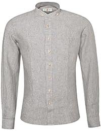 Trachtenhemd Slim Fit Achim in Braun von Almsach | Leinenhemd