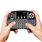Mini Tastiere Wireless, GooBang Doo 2.4G Mini tastiera con mouse touchpad per Android TV BOX,Smart TV, Mini PC, HTPC, Console, Computer - Colore NERO