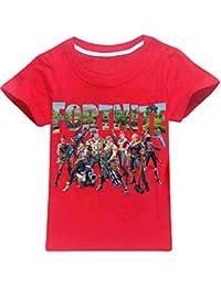 EMILYLE Unisex Fnite Logo de Equipo Juego Camiseta para Niño