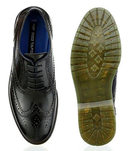 Ruban Rouge colworth Bordo Airsole pour homme Noir en Dentelle classique Brogues Chaussures Noir