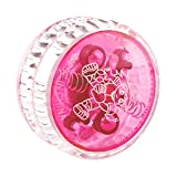 Beyove Plastic Auto-Return Light up YoYo Balls, Professional Auto-Return with String for Children Kids Adult Toys (Pink)