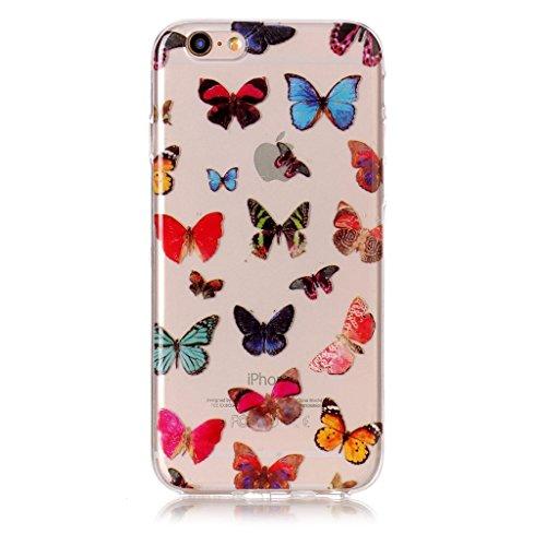 """Coque pour iPhone 6S Plus / 6 Plus , IJIA Transparent Fleurs De Peinture à L'huile TPU Doux Silicone Bumper Case Cover Shell Housse Etui pour Apple iPhone 6S Plus / 6 Plus (5.5"""") XS74"""
