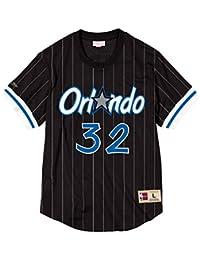Mitchell & Ness Shaquille ONeal Name & Number Mesh Crewneck (Orlando Magic), Camiseta de Mangas Cortas…
