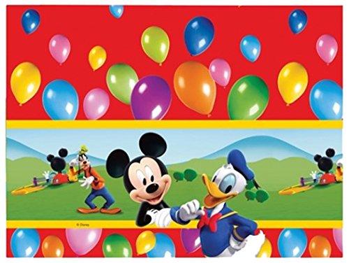 Tovaglia in plastica monouso Casa di Topolino 120x180 cm Walt Disney