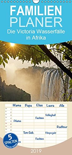 Die Victoria Wasserfälle in Afrika - Familienplaner hoch (Wandkalender 2019 , 21 cm x 45 cm, hoch): Die Victoria Wasserfälle: der größte Wasservorhang ... (Monatskalender, 14 Seiten ) (CALVENDO Orte)