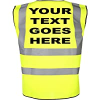 CUSTOM-FUNKY Personalised With any Name/Text Required, Childrens High Visibility Waistcoat/Vest