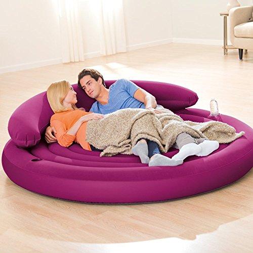 Intex Ultra Daybed Lounge Luftmatratze Luftbett Abnehmbare Rückenlehne 191x53 cm