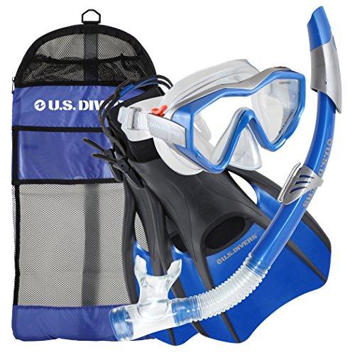 U.S Divers - Juego de accesorios para esnórquel (talla 7-10), color azul