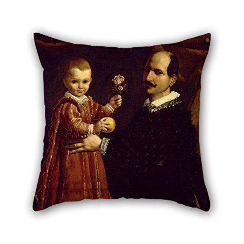 beautifulseason Oil Painting Carlo Ceresa - A Man with A Child Cushion Covers 16 X 16 Inches/40 by 40 cm Gift or Decor for Christmas Couples Boys Kitchen Husband Office - Two Sides
