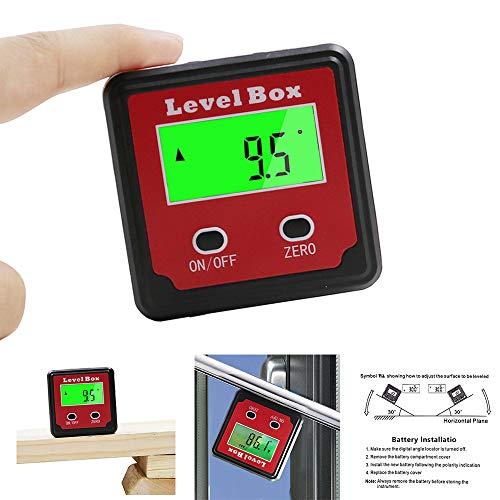 LCLrute Digitale Genauigkeit Winkel Sucher Neigungsmesser Winkelmesser Digital Level Box Bevel Box mit Magnetfuß