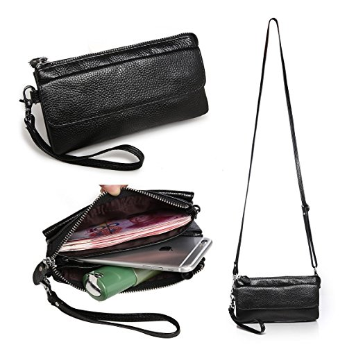 itslife-womens-genuine-leather-wristlet-clutch-with-shoulder-strap-cross-body-litchi-grain-small-bag
