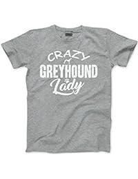 HotScamp Crazy Greyhound Lady - Unisex T-Shirt