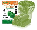 Swachh Biodegradable GREEN Garbage Bag ROLL (90 Bags) Size 29 inch x 39 inch (X-Large)