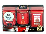 Englisch Tee Mini Caddy Geschenk-Set City of London , 3 x 25 g Tee Caddys British Souvenir Gift