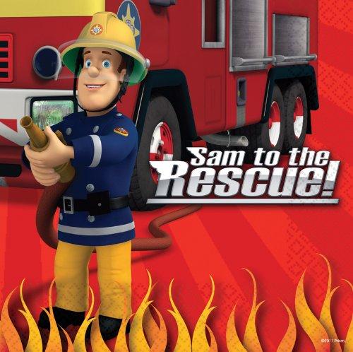 amscan Feuerwehrmann Sam 33cm Lunch-Servietten
