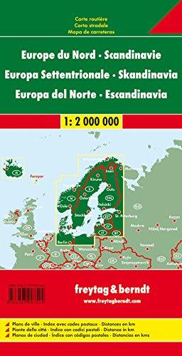Nordeuropa - Skandinavien, Autokarte 1:2 Mio., freytag & berndt Auto+Freizeitkarten: Alle Infos bei Amazon