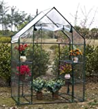 Parkland® Compact Walk in Greenhouse with 4 Shelves & Cover