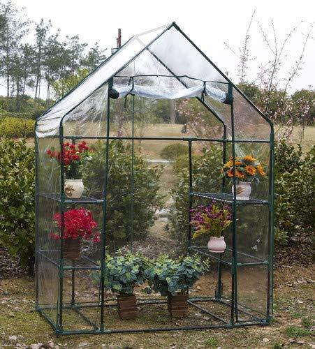 Steady 143 X 73 X 195cm 4 Tier Mini Greenhouse Iron Stands Shelves Garden Balconies Patios Decor Garden Planting Tools Garden Supplies Garden Buildings