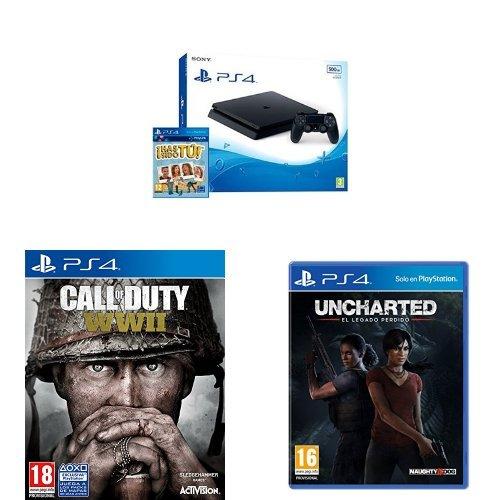 PlayStation 4 (PS4) - Consola De 500 GB, Color Negro + Voucher ¡Has Sido Tú! +...