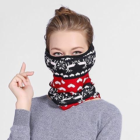 A prueba de polvo respirable térmico cálido invierno ciclismo bib orejeras protectoras,rojo