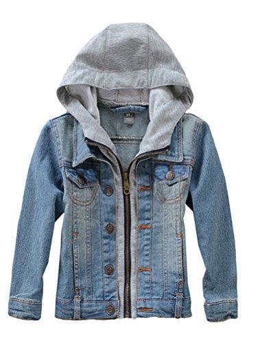 Mallimoda Mallimoda Mädchen Jungen Baby Beiläufig Stilvoll Frühling Herbst Jeans Denim Coats Mantel Kinder Jeansjacke Art 1-Blau 1-2 Jahre/Körpergröße 70-80
