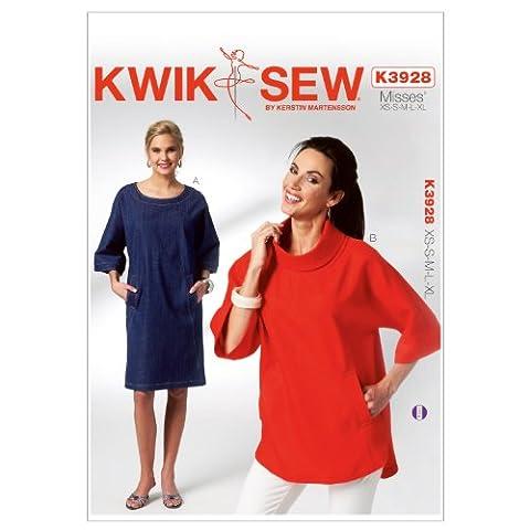 Kwik Sew Mustern K3928Größe XS/Small/Medium/Large/Extra Große Schnittmuster Dolman Sleeve Kleid