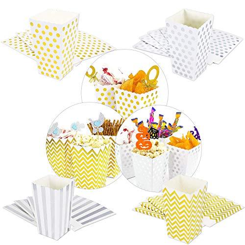Oblique Unique® Popcorn Snack Box Schachtel Tüten Set 32 Stück ALS Tisch Dekoration für Geburtstag Party Feier Hochzeit UVM. (Geburtstag Party Dekorationen Tisch)