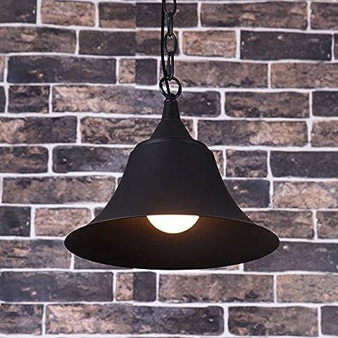 Black Metal cone ombre 1 pendaison de la chaîne légère de plafond suspendus ,Industriels 290*320mm