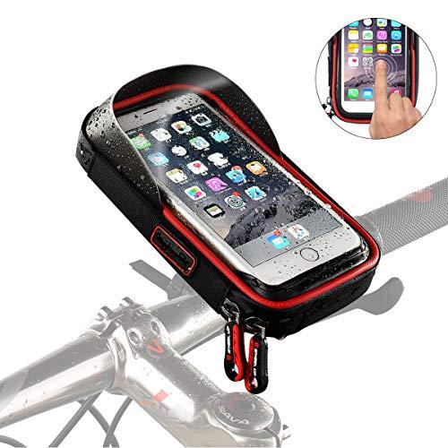 Joy-Fun Bicyclette Support téléphone vélo Support Telephone Moto Imperméable Accessoire Velo Monter 360° Rotation iPhone 6/7/7 Plus/8/8 Plus/x Samsung Été Outdoor Cycling