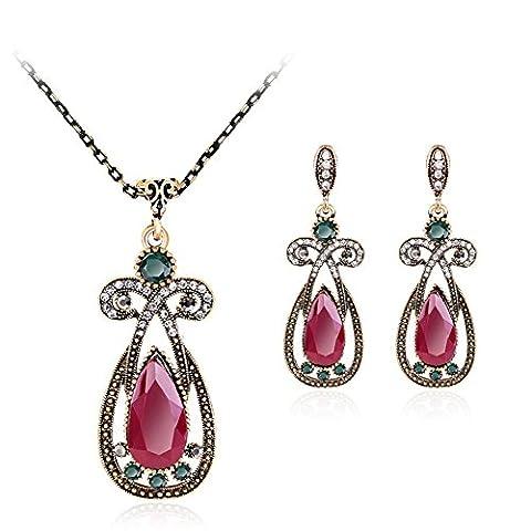 Vfclar Collier Boucles d'oreilles Femme Date Ensemble de bijoux Pendants